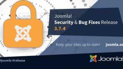 Joomla 3.7.4 biztonsági és hibajavító verzió frissítés