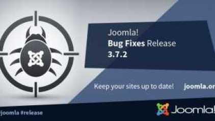 Joomla 3.7.2 hibajavító frissítés